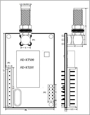 AD-KT500 ADF7021系列工业级无线数传模块