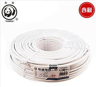 熊猫电线 电缆 同轴射频线 四屏蔽高清有线电视线 卫星电视RG 6-Q